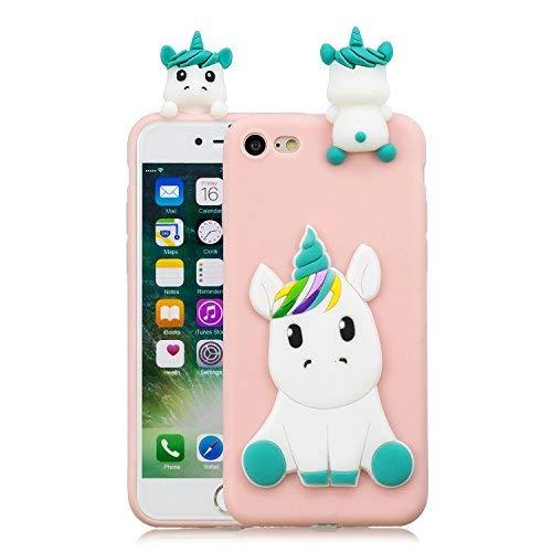 HopMore Compatible Funda iPhone 7 4.7 Inch Silicona