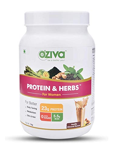 OZiva Protein & Herbs for Women (Vanilla Almond, 31 Servings)