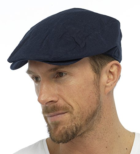 tom-franks-mens-linen-blend-traditional-flat-cap-blue-large-extra-large