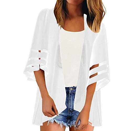 Damen Sommer Boho Strand Kimono Bikini Bademode Vertuschen Cardigan Shawl Bluse Beachwear Bikini Cover up Leichte Jacke Oberteil