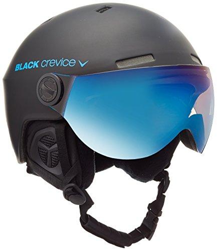 Black Crevice Erwachsene Skihelm Gstaad, schwarz/blau, 54-57 cm, BCR143921-BB-1
