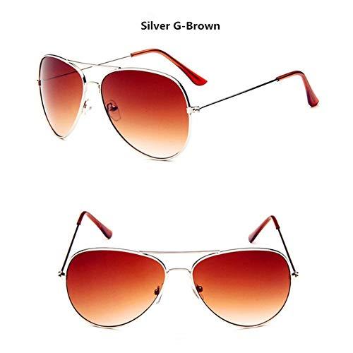 CCGSDJ Zonnebril Dames Classic Polarized Sonnenbrillen Großhandel Vintage Metallrahmen Sonnenbrille Gelb Film Nachtsichtgeräte
