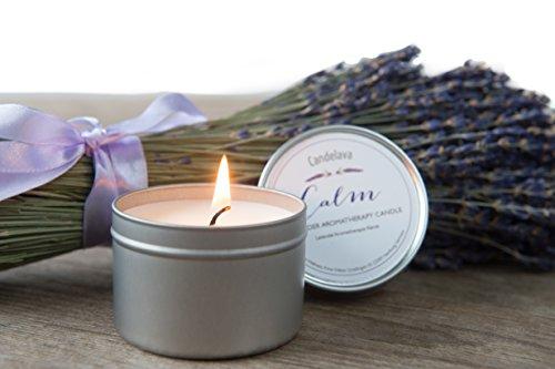 Sea Salts Wellness Lavendel Bio Aromatherapie Soja Kerze in Dose Sojawachs mit echtem ätherischen Lavendel Geschenk Travel Kerze 15 Std. Brenndauer (Bio-soja-kerze)