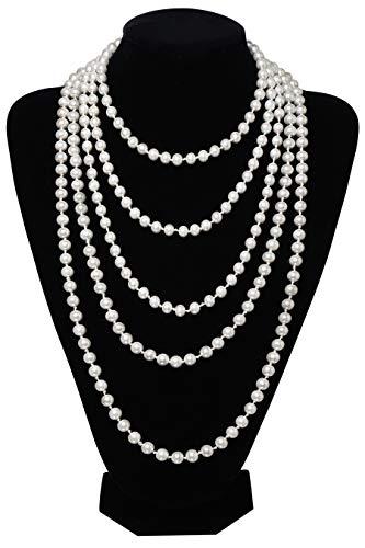 BABEYOND Modische Imitation Perlen Kette Flapper Art Deco 1920s Gatsby Kostüm Accessoires Lange...