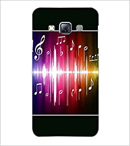 PrintDhaba Music D-1413 Back Case Cover for SAMSUNG GALAXY A3 (Multi-Coloured)