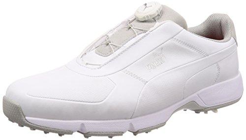 PUMA Ignite Drive DISC Herren Golfschuhe White-White 8