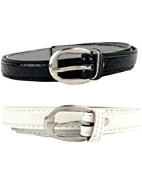Zacharias Women's Belt Pack of 2 Black and White