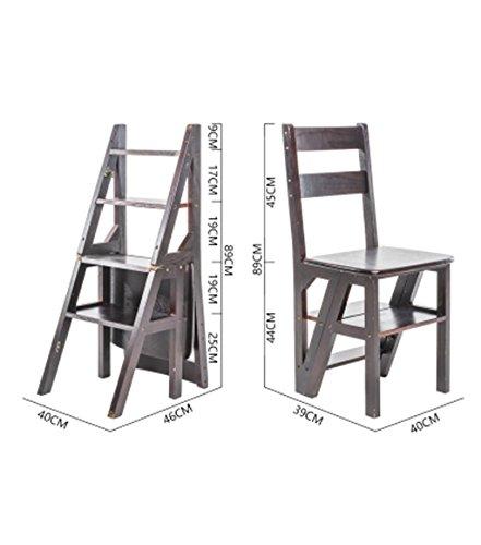 CAIJUN Chaises De Salon Echelle Mots Se Plier Étagère Plate-Forme Montée en Bambou Hauteur 89cm, 4 Couleurs Optionnelles Chair Ladder (Couleur : B)