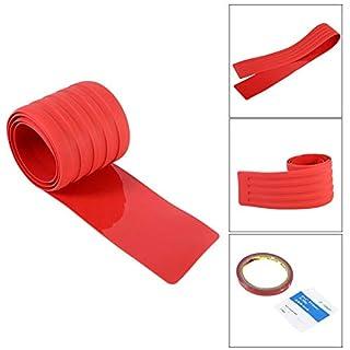 Aufkleber aus Gummi Abdeckung vor Kratzern Streifen für Tür Displayschutzfolie Stamm der hinteren Stoßfänger für LKW Autos Autos ( Farbe : Rot )