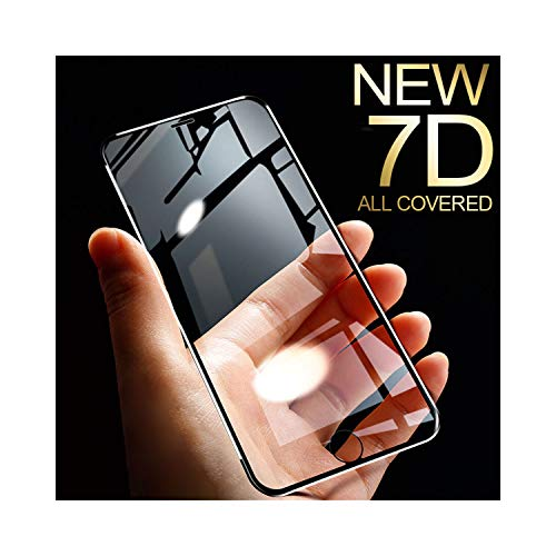 LZHANDA Schutzfolie Gehärtetem Glas panzerglas 7D Aluminum Alloy Tempered Glass for iPhone 6 6S 7 Plus Full Screen Protector Protective On The for iPhone X 8 5 SE 5S Glass for iPhone 6 6s Black