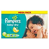 Pampers Baby Dry Nappies Size 3 Mega Pack 104 Nappies by Pampers
