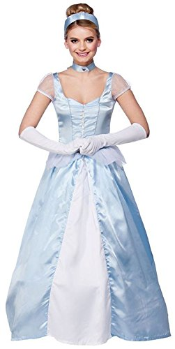 Kostüm Storybook Princess - LADIES CINDERELLA COSTUME SWEET CINDERS PRINCESS LONG BLUE