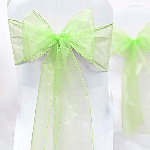 Gankmachine Bankett-Stuhl-Organza-Bogen-Schärpe Krawatten Hochzeit Slipcovers Hochzeit Stuhl Event Decor