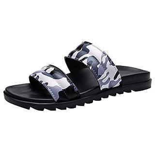 Givekoiu 2019 Boys Flip Flops Slipper Casual Pool Comfort Beach Slides Sliders Sandal Sizes(Gray,UK: 8.5)