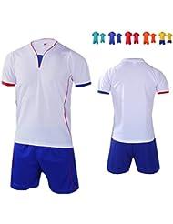Senston Nueva camiseta de fútbol Y cortocircuitos fijados Camisa del equipo(Kid / Jóvenes / Hombre: 6 colores)