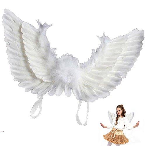 Ali Angelo Piumate Bianche Costume Piume per Feste (Bambini)