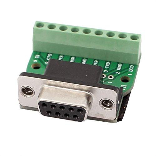 sourcingmap DB9 Serien Buchse Adapter Platte 9 Anschluss Stecker Signal Modul 40x35x15mm (Db9 Modul Buchse)