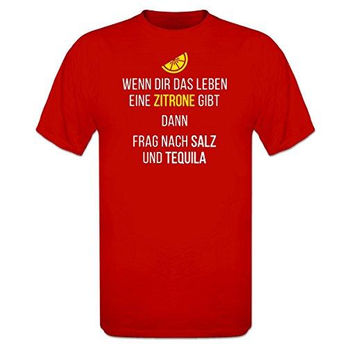 Wenn dir das Leben eine Zitrone gibt dann frag nach Salz und Tequila T-Shirt by Shirtcity (Zitronen Dir Das Leben Gibt-shirt)