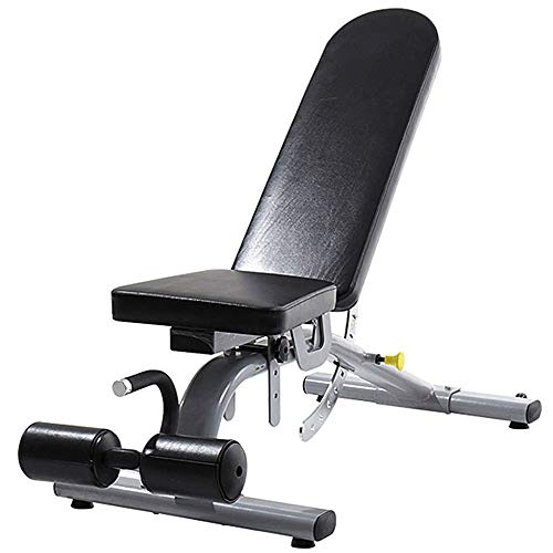 XLHJFDI Hantelbank Sit-up Board Adjustable Bench Home Training Gym Sit-up Gewicht Tabelle Geneigte Bank Bauch Vorstand Laden 600kg, Farbe, Schwarz, Größe: 156 * 59 * 49cm