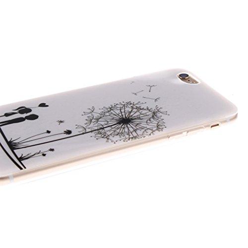 iPhone 6 / 6S Hülle, Hamyi Weiches TPU SchutzhülleSlim Fit für iPhone 6 und iPhone 6S (4,7 Zoll) (Sexy Girl) Löwenzahn-Liebhaber