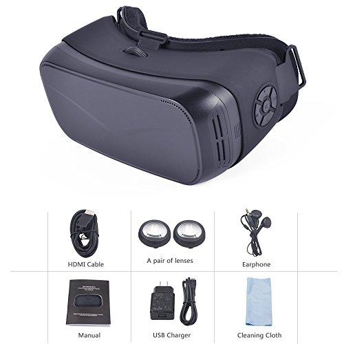 VR Headset VR 3D Brille Karton Virtuelle Realität Android-System 5,5 Zoll 1080P Display 3D Private Theater für Filme und Spiele Youtube Google Play (keine Notwendigkeit zu telefonieren)