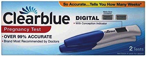 Kit de prueba de embarazo Clearblue DIGITAL Indicador de Concepción, 2unidades