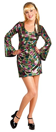 Kostüm top collection Disco Diva Minikleid (Diva Gold Disco Kostüm)