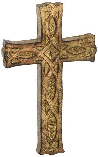 HOSLEY 's Holz Kreuz 20,3cm lang. Ideal Geschenk oder Dekoration für Zuhause, Hochzeiten, Party, SPA, Meditation, Home Office, SPA, Wohnheim
