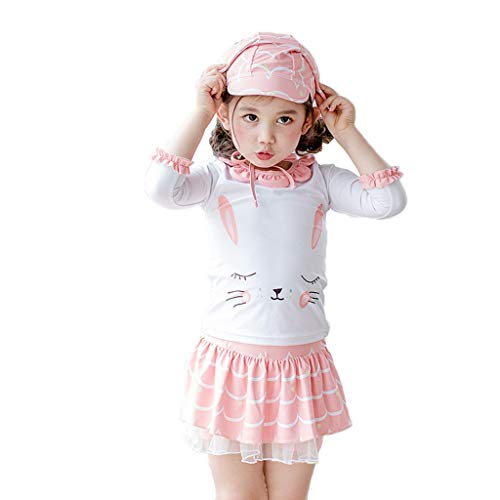 QIAODOUMADAI Mädchenbadebekleidung Blumenbadeanzug Kinderbadebekleidung Kinderbadeanzug Siamesischer Badeanzug Bikinianzüge Beachwear,90