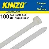 Kinzo 72111 Attache de câble 3,6 x 300 mm 100 pièces