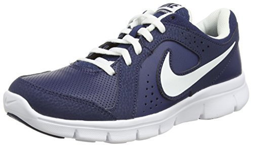 Nike Flex Experience Ltr (Gs), Baskets Basses garçon Bleu - Midnight Navy/White