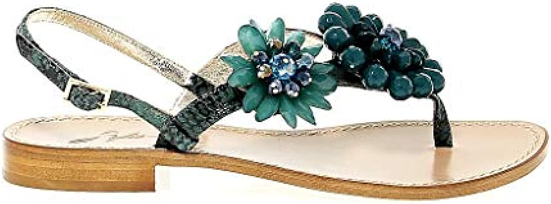 SOFIA M. Sandali Donna Donna Donna 5027verde Pelle Grigio | Elegante Nello Stile  | Sig/Sig Ra Scarpa  8aaddc