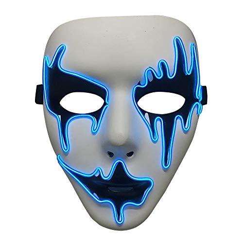 Kaltlicht Maske Halloween Horror Licht Maske EL Kaltlicht LED Maske für Festival Musik Party Party Kostüm, A
