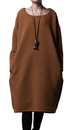 Vogstyle Donna Top Lunga Batwing Pullover