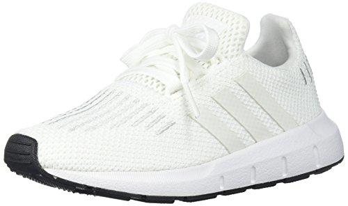 adidas Originals Baby Swift Running Shoe, Crystal White/Black, 5 Medium US Toddler (Sneaker Adidas Toddler)