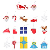 Beetest Diy Christmas Tree for Children, 3D DIY Felt Christmas Tree with 18pcs Toddler Friendly Christmas Tree Hanging Ornaments for Kids Xmas Gifts Christmas Home Decorations Bild 1