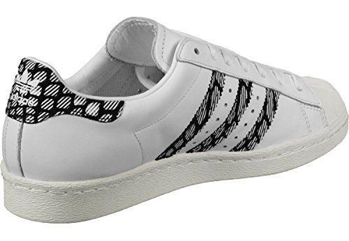 adidas Herren Superstar 80s Turnschuhe Weiß Schwarz
