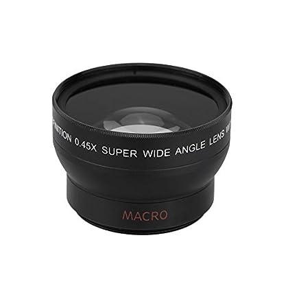 niceEshop(TM) 37mm 0.45x Fisheye Lente Gran Angular y Macro para Canon Nikon Sony Pentax (Negro)