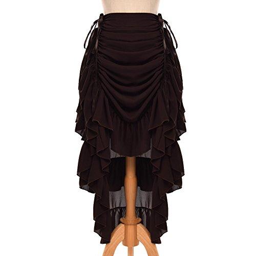 GRACEART Frauen Viktorianisch Steampunk Rock (Braun, - Für Punk-rock-halloween-kostüm Mädchen