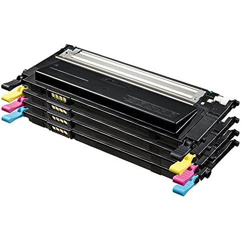 Samsung P4092C - Pack de 4 tóner, tricolor y negro