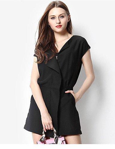 GSP-Combinaisons Aux femmes Manches Courtes Décontracté Polyester Moyen Non Elastique black-m