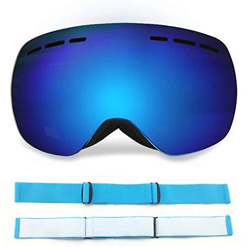 JXS-Goggles 2-Layer Borderless Ski-Brillen, Reiterkorgerggellbrillen, Anti-Nebel und Anti-Glare Anti-Stun Can Be Used for Myopia Gläser,E