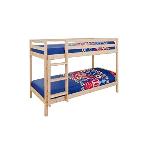 Comfy Living 3ft Single Wooden Pine Bunk Bed Zara + 2 Mattresses