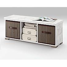 Mueble auxiliar de almacenaje con dos cestas para comedor, salón habitación o recibidor de medida 102x33