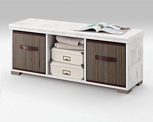 Mueble auxiliar de almacenaje con dos cestas para...