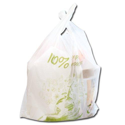 Kompostierbare Bio-Müllbeutel 10-15Liter - 100 Stück - 100% kompostierbar & biologisch abbaubar - aus Maisstärke