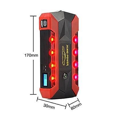 WJJ- Car Jump Starter 600A Aumento máximo de 13600mAh Fuente de alimentación de emergencia Fuente de emergencia de arranque automático y luz de flash LED ultra brillante para SOS