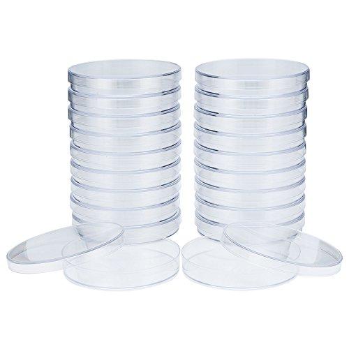 rischalen (92,5 mm x 15 mm), steril, belüftet, aus hochwertigem Polystyrol, 2 Sets x 10 Stück (20 Stück) ()