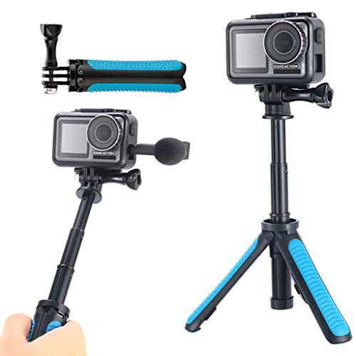 Ouneed - Stativ Mini für DJI OSMO Action Camera Stativ Tripod Mount mit 1/4 Schraube Camera Verstellbare Selfie-Stange Stativ Tripod Dreibein für DJI OSMO Action Camera (Blau) -