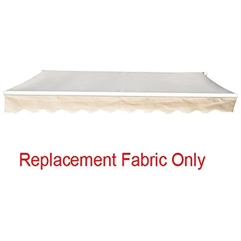 Greenbay 3.5x2.5m Garden Awning Replacement Fabric Top Cover Front Frill Cream